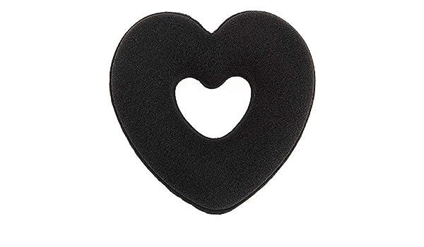 ... Pelo Que Labra los Accesorios del corazón del Bollo del buñuelo Envuelve el Cabello Anillo de Bud acortar el Sistema de Pelo-Updo Secador de Pelo Clip ...
