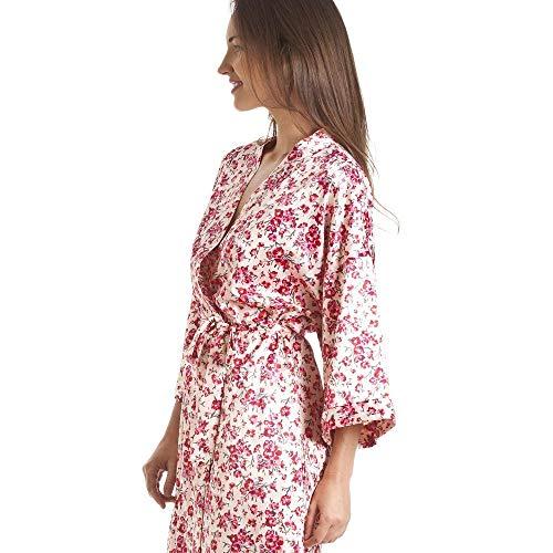 Estilo Rosa Envoltura Con Floral Cfhjn Y Juego Kimono Floral Estampado De Home Lujo 16x1pqnUXZ