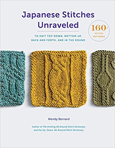 Japanese Stitches Unraveled 160 Stitch Patterns To Knit Top Down