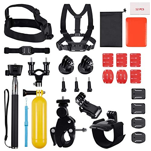 House of Quirk 30 in 1 Action Camera Accessory Kit Bundle Compatible for GoPro Hero 6 5 4 3/SJCAM/Akaso/Apeman/Xiaomi Yi Action Camera (30 in 1) Price & Reviews