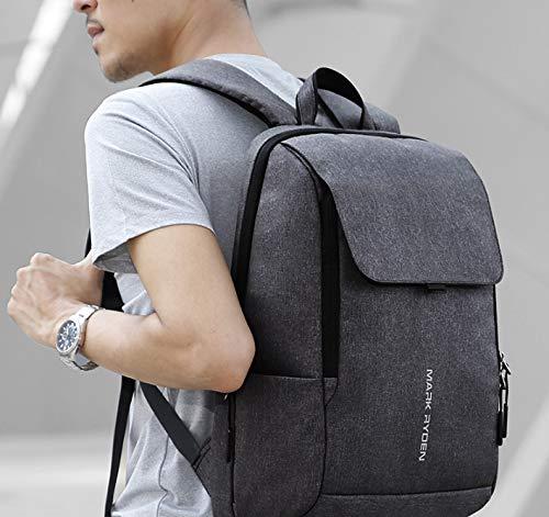 Casual Multifunktions-Rucksack Stilvolle Schwarze Reisetasche Ladeanschluss Outdoor Herrentasche Walking Office Business Bag