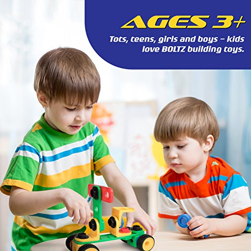 """STEM Toys Building Blocks Construction Set - """"USA Toyz BOLTZ"""" 101 Pc Educational Toys for Toddlers with Toy Bolts + 1 Ratchet for Kids Building Toys"""