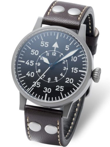 Laco Paderborn Type B Dial Swiss Automatic Pilot Watch with Sapphire Crystal...