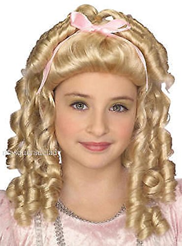 [Fairy Tale Princess Child Blonde Wig Little Doll Girl Goldielocks Costume Accent] (Spider Queen Costume For Girls)