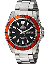 Orient Mens Mako XL Japanese Automatic Stainless Steel Diving Watch, Color:Silver-Toned (Model: FEM75004B9)