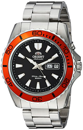 Orient Men's 'Mako XL' Japanese Automatic Stainless Steel Diving Watch, Color:Silver-Toned (Model: FEM75004B9) by Orient