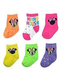 Disney Baby Girls Minnie Mouse Socks (6 Pair Pack)