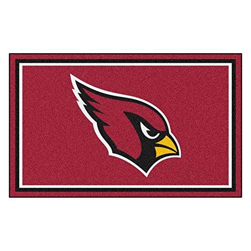 FANMATS NFL Arizona Cardinals Nylon Face 4X6 Plush Rug by Fanmats