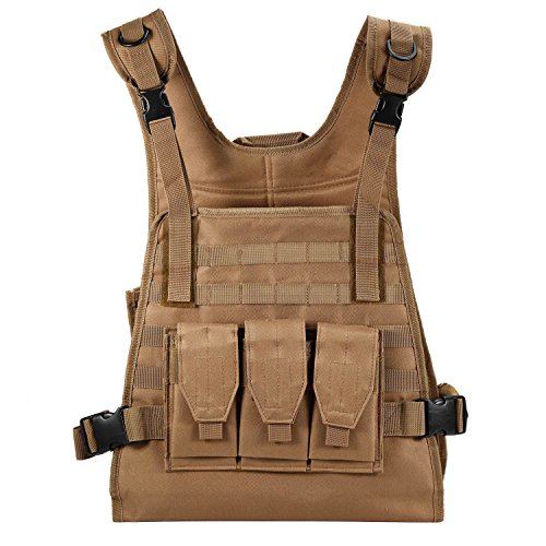 Tactical MOLLE Combat Beathable Vest for Cs Field Protective Security Training Cosplay Airsoft Paintball Army Shooting Hunting - Specs Uk Online Buy
