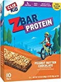 CLIF KID ZBAR - Protein Snack Bar - Peanut Butter Chocolate (1.27 Ounce Gluten Free Bar, 10 Count)
