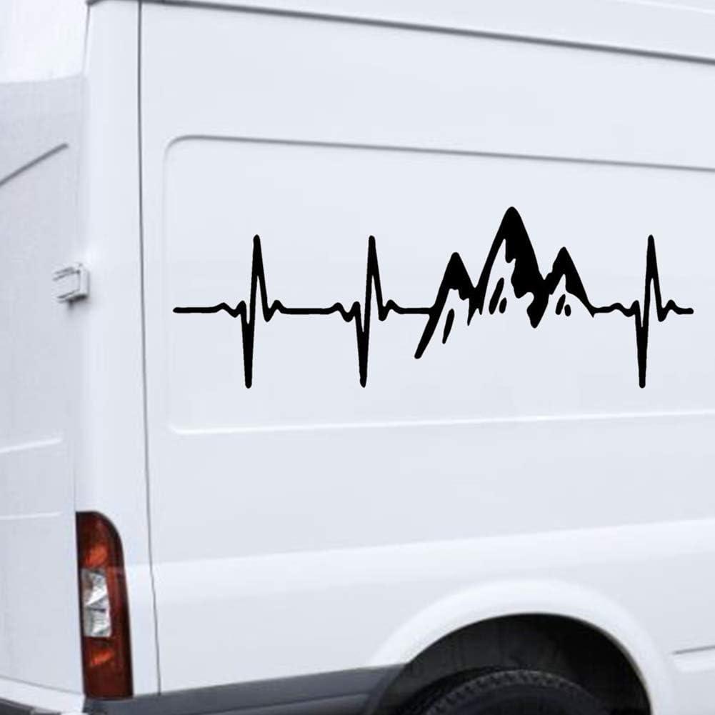 lingzhuo-shop Adhesivo Reflectante para el automóvil con ECG de Escalada Estilo Advertencia de Seguridad Impermeable Resistente al Calor Fácil de ...