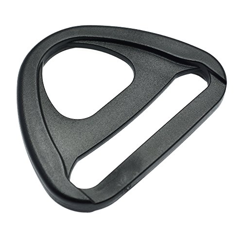 20pcs Plastic Adjuster with bar Swivel Clip D-Ring Loop Insert Buckle Backpack Straps (Webbing Size 2