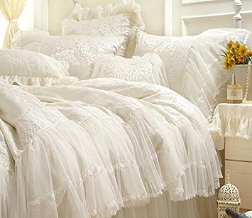 Norson Madchen Schone Hochzeit Bettwasche Set Princess Pink Creme