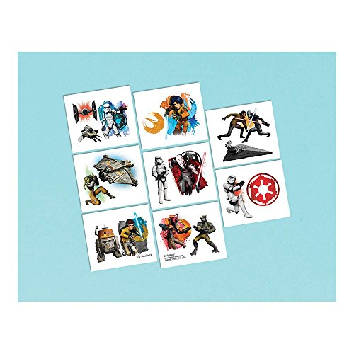Amscan Star Wars Rebels Birthday Party Temporary Tattoos Favor (16 Pack), 2