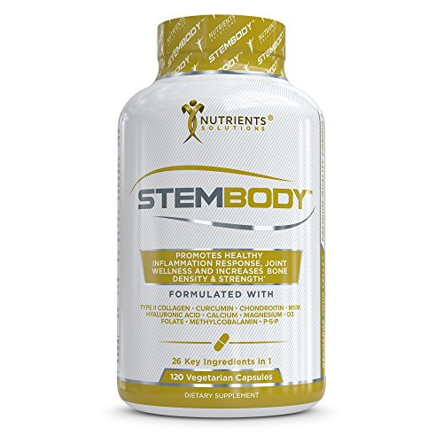 STEMBODY- Advanced Bone and Joint Health Support Supplement - Multivitamins, Calcium, Collagen II, Magnesium, Tumeric Curcumin, MSM, Bromelain, Boswellia, Hyaluronic Acid, Zinc, Vitamin D3,Vitamin B12