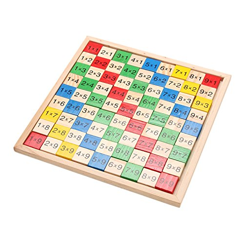 Wooden Math Dominoes Toy Double Side Printed Multiplication Table Pattern Board Children Educational Kids Wooden Toys