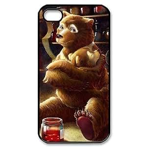 Zheng caseZheng caseCute cartoon bear Custom Cover Case with Hard Shell Protection for iPhone 4/4s,4S Case lxa#979928