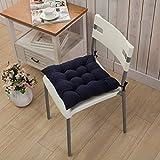 AVI Microfibre Chair Cushion Seat Pads Seat Cushion Indoor Outdoor Dining Home Office Garden Decor-16x16 (Dark Blue)