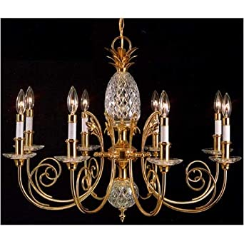 Quoizel brass and crystal large pineapple chandelier amazon quoizel brass and crystal large pineapple chandelier aloadofball Gallery