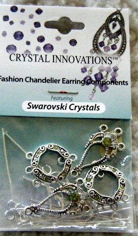Swarovski Chandelier Earring Kit(2 Pair)/ Peridot Green