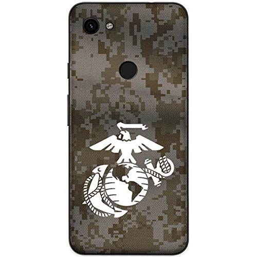 Skinit White Marine Earth Eagle Google Pixel 3a XL Skin - Marines Phone Decal - Ultra Thin, Lightweight Vinyl Decal Protection (Best Google Earth Layers)