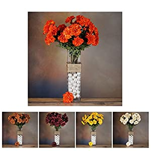 Efavormart 4 Bushes California Zinnia Artificial Wedding Craft Flowers Decoration Supply 46