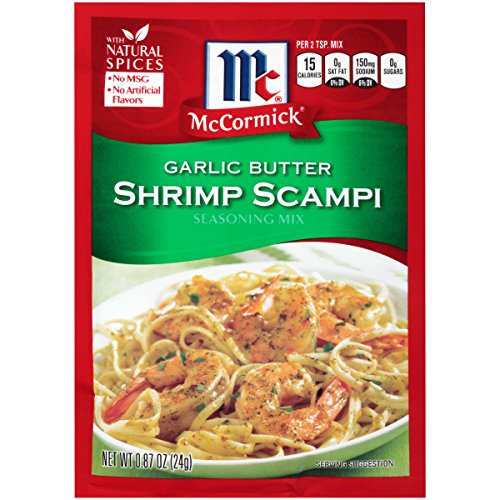 McCormick Garlic Butter Shrimp Scampi, 0.87 oz (Case of 12) - Garlic Shrimp Scampi