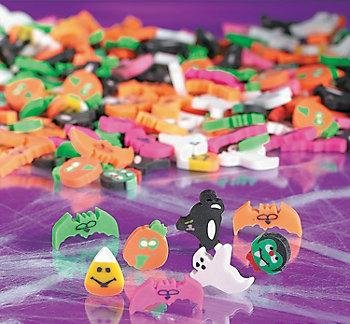 24 (2 Dozen) ~ Halloween Mini Erasers ~ Approx. 1/2