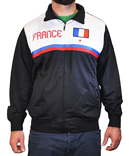 Amdesco Men's France French Pride Sport Track Jacket, X-Large ()