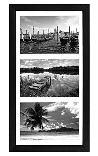 Collage Picture Frame 5x7 By Americanflat - Display Three Photos Sized 5x7 on Your Wall - Perfect As a Family Collage Picture Frame (8x16 Frame with 3 5x7 Openings) (Frames 3x5 Photo)