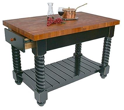 Amazon.com - John Boos End-Grain Cherry Tuscan Isle Kitchen ...