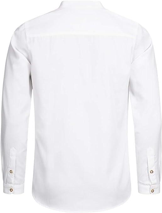 Stockerpoint OC-Fredi - Camisa para traje regional con cuello alto, corte regular: Amazon.es: Ropa y accesorios