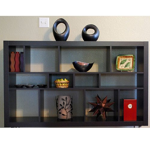 Amazon.com: Ikea Expedit Bookcase / Tv Stand Multi-use Black-brown: Kitchen  u0026 Dining