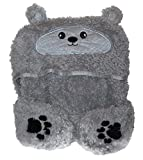 SILVER ONE intl Cozy Critters Kids Animal Face Hooded Cape with Pocket Paws, Quiet Mouse