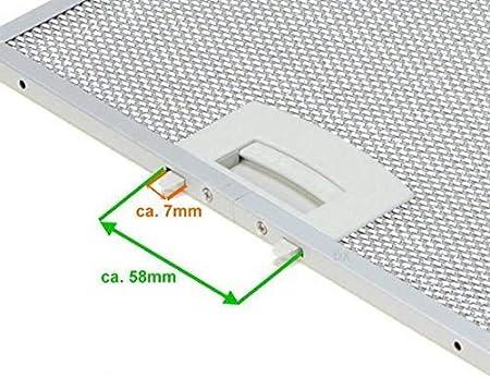 lc656ba40//01 lc654wa20//01 FILTRO Grassi in Metallo per Siemens lc654wa10//01