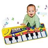 Mallya Funny Keyboard Piano Mat for Kids,3 Model Sound+Music mode, animal sound mode, the piano mode