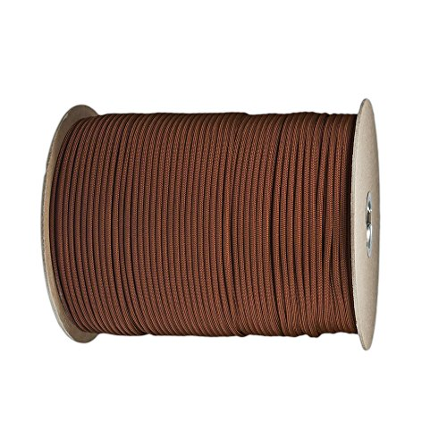 Paracord Planet Nylon 7 Type III Strand Inner Core Paracord - 250 Feet, Chocolate Brown - Coaster Chocolate
