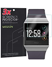 [3 Pack] MEZON Ultra Clear Screen Protector TPU Film for Fitness Tracker Fitbit Ionic – High Protection, Shock Absorption (Fitbit Ionic)