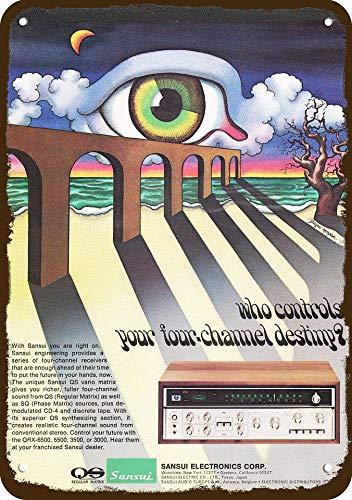 (Yilooom 1973 Sansui Qs Vario 4-Channel Stereo Receiver Vintage Look Replica Metal Sign 7