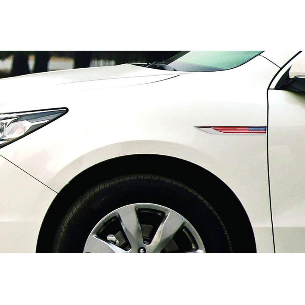 1 par de coches 3D bandera emblema insignia calcoman/ías etiqueta para JEEP BMW Dodge Mercedes Benz Chrysler Honda