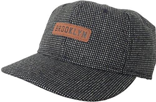 Brooklyn Hat Co Wood Tweed Cap 6 Panel (Fully Lined Tweed Cap)