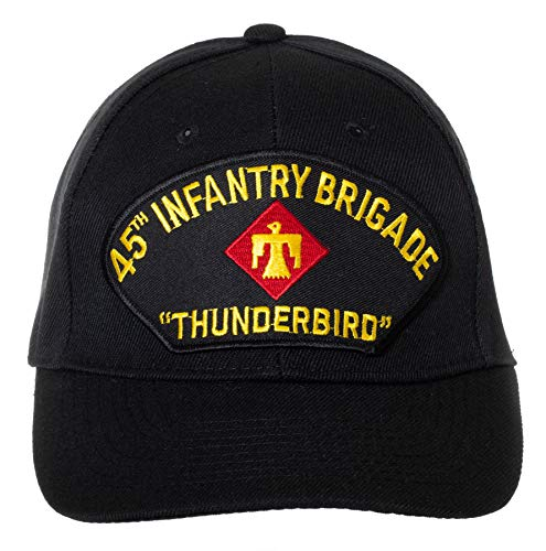 United States Army 45th Infantry Brigade Thunderbird Embroidered Patch Black Adjustable Baseball Cap