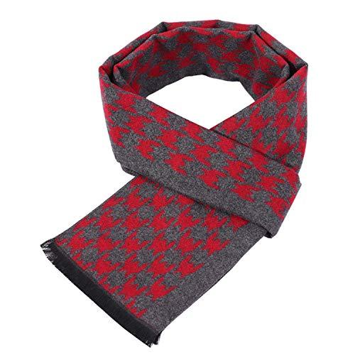 uomo cambiare artificiale sciarpe copertura inverno 180 rosso lana cm per piede gallina Amdxd l'autunno sciarpa W0ExqwBSA