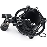 ZRAMO Black Spider Universal Microphone Shock Mount Holder Adapter Clamp and Clip for Large Diameter Studio Condenser Mic