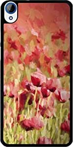 Case for Htc Desire 820 - Painted poppyfield