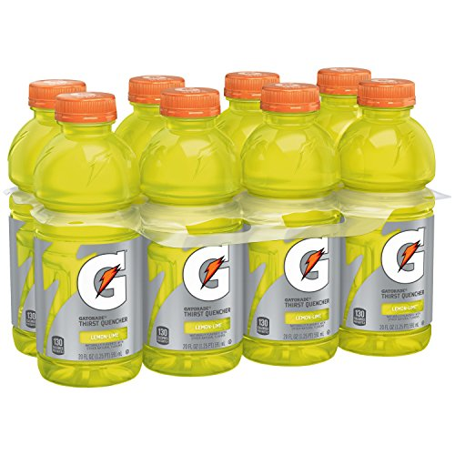 Gatorade Thirst Quencher, Lemon Lime, 20 Ounce Bottles, Pack of 8