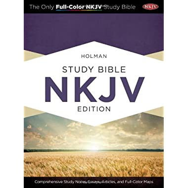 Holman Study Bible: NKJV Edition, Mahogany LeatherTouch Indexed