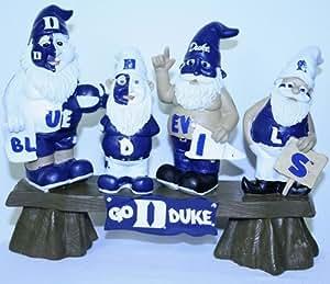 Amazon.com : Duke Blue Devils Garden Gnome - Fans on Bench ...