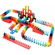 Bulk Dominoes 206pcs pro-Scale, Premium Stacking & toppling Domino Set. Chain Reaction Steam Building Toy Set