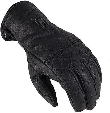 Dxr Motorradhandschuhe Lang Motorrad Handschuh Brace Winterhandschuh Schwarz S Herren Sportler Ganzjährig Leder Bekleidung